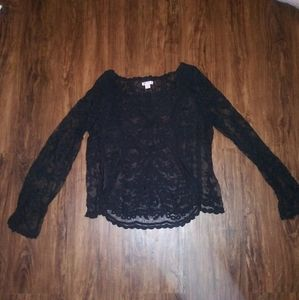 Sheer Black Lacey Top